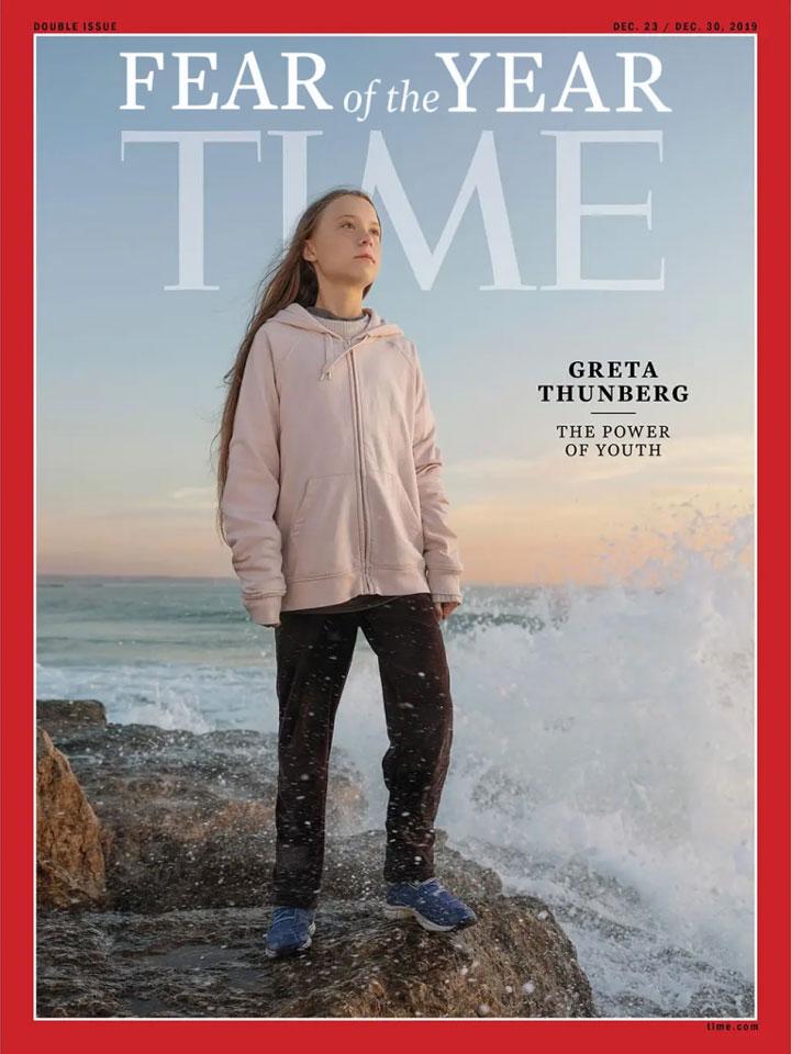 Strach roka Greta Thunberg